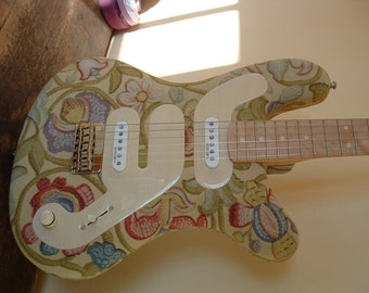 Custom Guitar - Vintage Drapery Finish