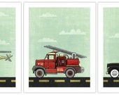 3-pack 11x14 - Fireman, Police, rescue art prints