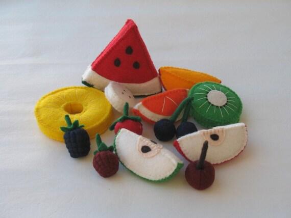 Felt Assorted Cut Fruits