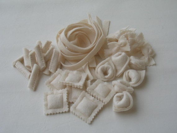 Assorted Felt Pasta Set