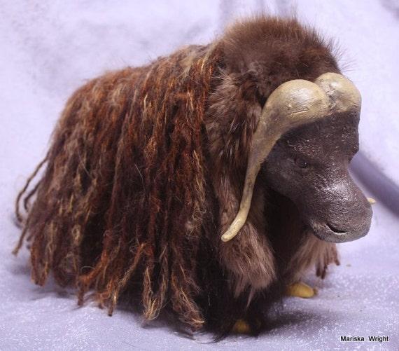 ENAPAY Ooak Alaska Musk Ox Art Doll