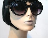 Sparkling Jackie Black Sunglasses Accessory Sunnies Cute Kawaii Lolita Retro by Cutie Dynamite
