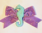 Magical Seahorse Velvet Hair Bow Lolita Party Pinup Alice Kawaii Cute by Cutie Dynamite