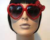 Sweetheart Red Sunglasses Accessory Sunnies Cute Kawaii Lolita Retro by Cutie Dynamite