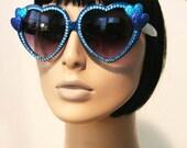 Sweetheart Royal Blue Sunglasses Accessory Sunnies Cute Kawaii Lolita Retro by Cutie Dynamite
