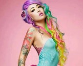 Double Ruffled Heart Hair Clip Accessory by Cutie Dynamite Cute Kawaii Lolita Pinup Party