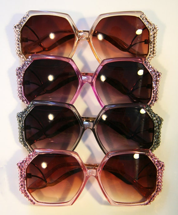 RESERVED FOR boardwalklover Retro Batwing Sunglasses Accessory by Cutie Dynamite Sunnies Cute