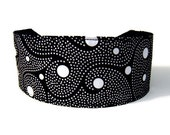 Starry Night, Black and White Elegance, White Dots Over Black, Beautiful Headbands