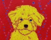 Bubbly Bichon - Bichon Art - Bichon Print - Dog Pop Art Print by dogpopart on etsy