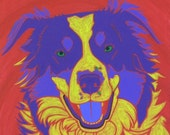 Dog Art - Pop Art - The Shepherds Dog - Border Collie Print by dogpopart