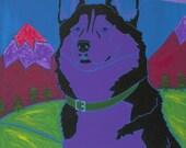 Working Class Dog - Husky Art - Husky Print - Dog Pop Art - by dogpopart