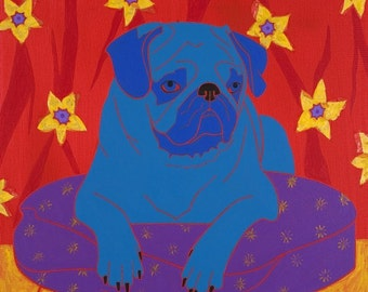 Pop Art - Pug - Impeccable Pug - Dog Art Print by Angela Bond