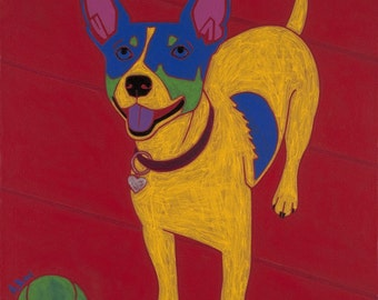 Rat Terrier Pop Art - Colorful Dogs by dogpopart
