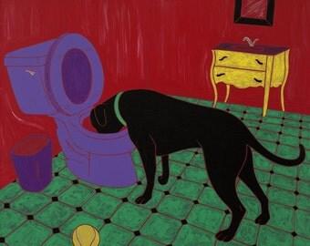 Heavy Drinker - Dog Pop Art - Lab Art - Lab Print - by dogpopart