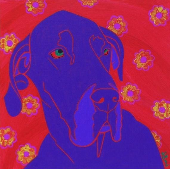 Gentle Giant - Dog Pop Art - Fine Art Print by dogpopart on etsy