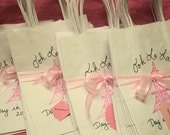 SET of 50 Paris Favor Bags Have a Paris Themed Birthday Party Bridal Shower Baby Shower Personalized with Eiffel Tower