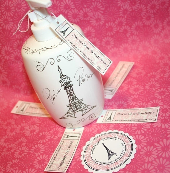 Lotion or soap dispenser paris theme with by parischicboutique - French themed bathroom accessories ...