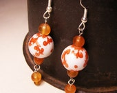Chinoise amber-accent earrings