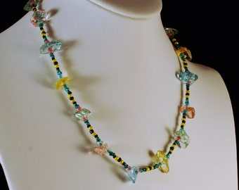 Beaded Ice Shard Necklace - Sparkling Effervescence Art Careers