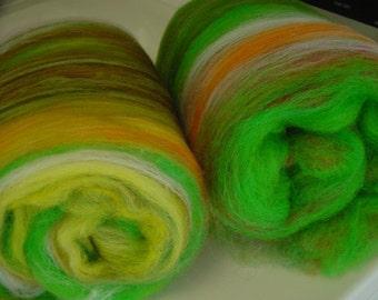 Art batt SALE 4 oz. Merino Alpaca hand dyed batt OASIS