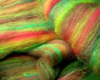 Art batt SALE 4 oz. merino wool silk alpaca firesar AUTUMN HAWTHORNE