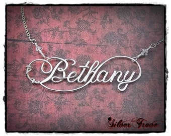 Sterling Silver Name Necklace Personalized Jewelry Custom Name Wire Infinity Name Calligraphy necklace Script Name Jewelry Silver Name
