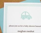 toy car baby shower invitation
