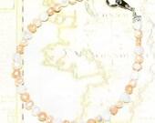 Pastel Peach Freshwater Pearl Bracelets