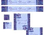 Etsy Premade Victorian,Purple vines, Shop Banner set,  Etsy Store Banner, avatar