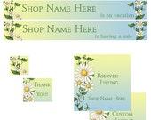 Etsy Premade Shop Banner set Spring flowers Daisy  Etsy Store Banner avatar