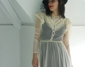 1970's Gunne Sax Tea Lace Dress