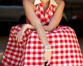 Cyber Monday Sale - 1950's Fashion - Gingham Skirt Set