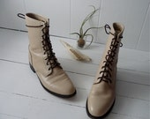 Nature Hike - 1990's Grunge Combat Boots in Neutral