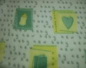 SALE - Last 2 yds - Baby Hearts Fleece Fabric