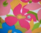 Hawaiian Floral Fleece Fabric
