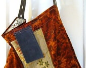 upcycled red ginger purse - RESERVED FOR elizabethio