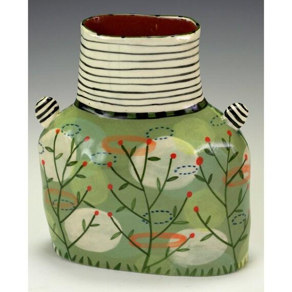 A Chubby Vase-Reversible.  Handmade by Nancy Gardner.