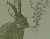Smoking Rabbit Card