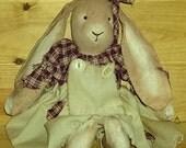 Homespun Bunny prim