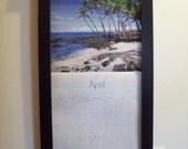 Wood Framed Perpetual Calendar Holder