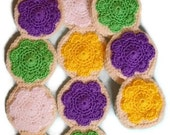 Frosted Sugar Cookies SCARF purple lemon yellow lime green white Frosting 60 in. Made To Order