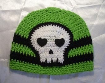 Skull Beanie Hat Limelight and Black Ships Now