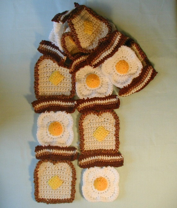 Bacon, Eggs and Toast with Butter Scarf SHIPS NOW