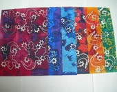 Batik dyed paper pack (6 A4 size papers) pack 2