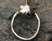 Organic Charm Holder in Sterling Silver