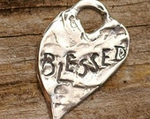 Artisan Blessed Heart in Sterling Silver