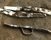 3 Artisan Made Toggle Bars in Sterling Silver, AD150