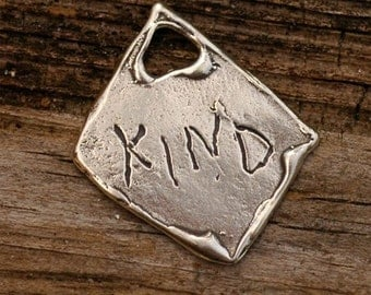 Inspirational Words of Wisdom to Inspire in Sterling Silver -  KIND