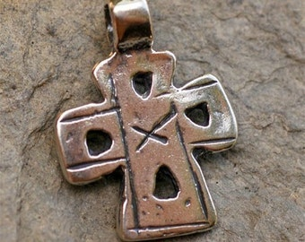 Old World Coptic Cross Sterling Silver Pendant
