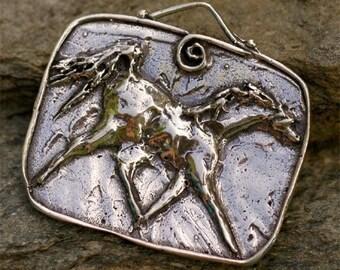 Horse Portrait Sterling Silver Pendant